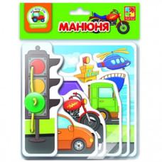 Книга для самых маленьких Vladi Toys Манюня. Транспорт, укр. язык (VT2222-06)