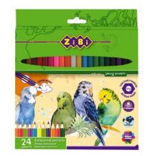 Карандаши цветные ZiBi Soft, 24 шт. (ZB.2412)