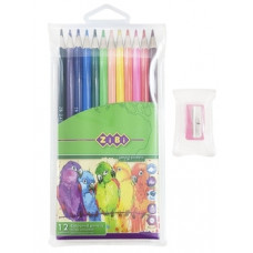Карандаши цветные ZiBi Smooth, с точилкой, 12 шт. (ZB.2408)