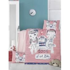 Комплект постельного белья LightHouse Two Girls, ранфорс, 150х100 см, красный с белым (35226)