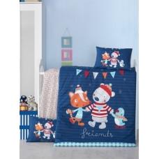 Комплект постельного белья LightHouse Winter, ранфорс, 150х100 см, темно-синий (35233)