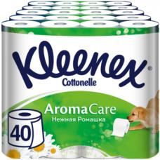 Набор трехслойной туалетной бумаги Kleenex AromaCare, 40 рулонов (10 уп. по 4 рулона)