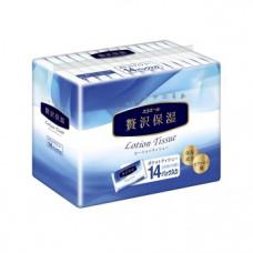 Носовые платки Elleair Premium lotion, экстрауспокаивающие с глицерином, 14х14 шт.