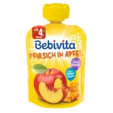 Фруктовое пюре Bebivita Pouch Персик-яблоко, 90 г (Срок годности до 17.09.2020)