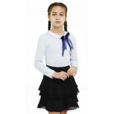 Юбка Smil Школа - 2019, стрейчевый футер, р.128, черный (120231)