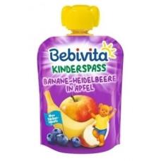 Фруктовое пюре Bebivita Pouch Банан-черника-яблоко, 90 г (Срок годности до 02.09.2020)