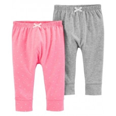 Штаны Carter's, хлопок, 6М, серый, розовый, 2 шт. (16640111)
