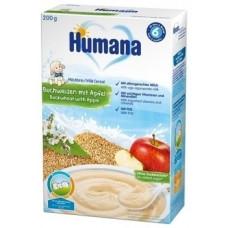 Молочная каша Humana Гречневая с яблоком, 200 г (Срок годности до 01.08.2020)