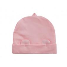 Шапочка Мамин Дом Little Bear Мишка, с ушками, хлопок, р.68, 3-6 мес., розовый (190309)