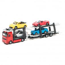 Игровой набор автоперевозчиков Технопарк автоперевозчик 4 легковые машины (CT-1240WB)
