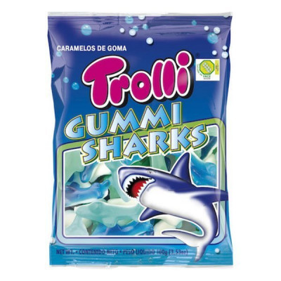 Конфеты жевательные Trolli Акула, 200 г  ТМ: Trolli