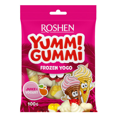 Желейные конфеты Roshen Yummi Gummi Frozen Yogo 100 г 9100000223 ТМ: ROSHEN