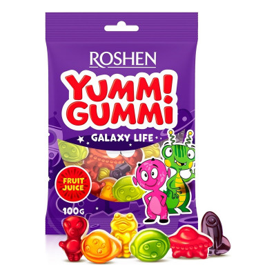 Желейные конфеты Roshen Yummi Gummi Galaxy Life 100 г 9100000084 ТМ: ROSHEN