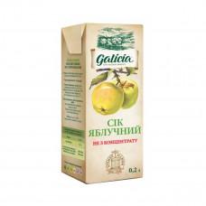 Сок Galicia Яблочный прямого отжима неосветленный, 200 мл  ТМ: Galicia