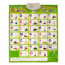 Интерактивный плакат Znatok Говорящая азбука на украинском (REW-K008)