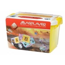Магнитный конструктор Magplayer, 81 элемент (MPT2-81)