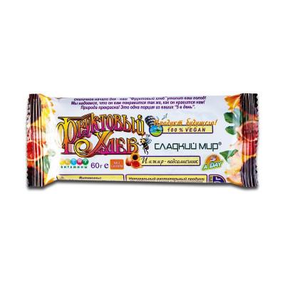 Батончик Фруктовый хлеб инжир-подсолнечник, 60г  ТМ: Сладкий мир