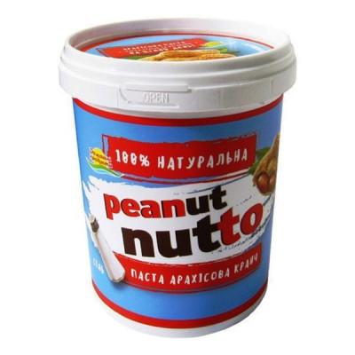 Арахисовая паста Домашні продукти с кусочками арахиса 400 г  ТМ: Домашні продукти