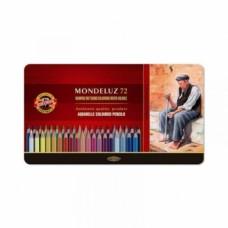 Набор акварельных карандашей в металлической коробке Koh-i-Noor Mondeluz, 72 шт. (372707)