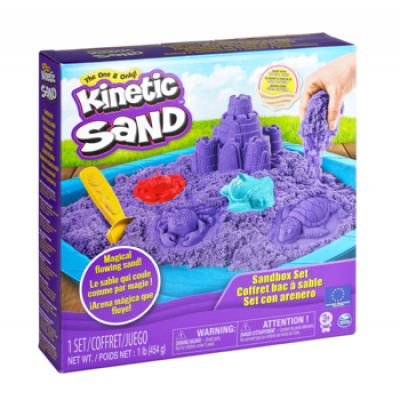 Набор песка для детского творчества Wacky-Tivities Kinetic Sand, фиолетовый, 454 г (71402P)