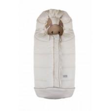 Зимний конверт Nuvita 9605 Cuccioli Junior Кролик, молочный с бежевым (NV9605CUCCIOLOJRMILK)
