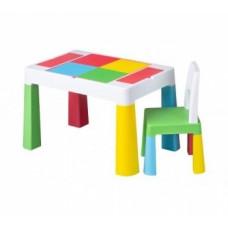 Набор мебели Tega Multifun, стол и стул, зеленый с желтым (MF-001-134)