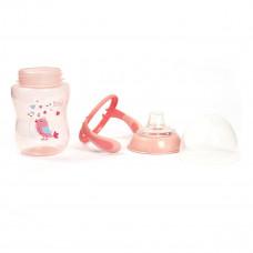 Чашка-непроливайка Lindo Premium с силиконовым носиком 260 мл Розовая А42 ТМ: Lindo