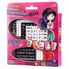 Набор для накладывания ногтей на стикерах Поиграй в нейл-арт Playmates Toys (BNAK03)