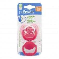 Пустышка ортодонтическая Dr. Brown's Розовая 12+ мес 2 шт (в ассорт) 983-SPX ТМ: Dr. Brown's