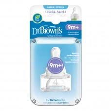 Соска Dr. Brown's 4-го уровня для бутылочки с узким горлышком 9+ мес 2 шт 313-INTL ТМ: Dr. Brown's