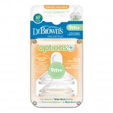 Соска Dr. Brown's Options+ для соков и жидких каш для бутылочки с широким горлышком 9+ мес 2 шт WNY201-INTL ТМ: Dr. Brown's