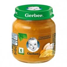 Пюре Gerber Спагетти с цыпленком, 125 г