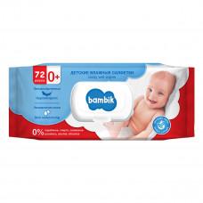 Влажные салфетки гипоаллергенные Bambik Липа 72 шт 43406000 ТМ: Bambik