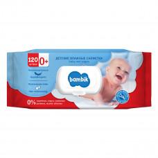 Влажные салфетки гипоаллергенные Bambik Липа 120 шт 43406100 ТМ: Bambik