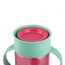 Чашка-непроливайка Suavinex 360 Истории маленьких монстров Розовая 400774 ТМ: Suavinex