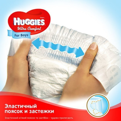 Подгузники Huggies Ultra Comfort Мega для мальчиков Размер 5 (12-22 кг), 56 шт 2583501 ТМ: Huggies