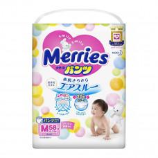 Подгузники-трусики Merries Размер M (6-11 кг), 58 шт 230591 мер-5 ТМ: Merries