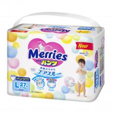 Трусики-подгузники Merries L 9-14 кг 27 шт 584753 ТМ: Merries