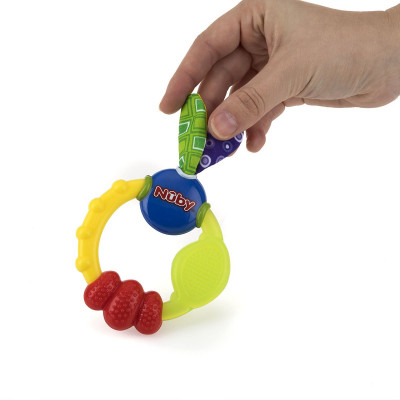Игрушка прорезыватель «Кольцо с ушками» 632 ТМ: Nuby