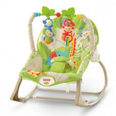 Массажное кресло-качалка Веселые обезьянки Fisher-Price (CBF52)