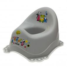 Горшок Maltex Baby Мишка и друзья с нескользящими резинками Серый  ТМ: Maltex Baby
