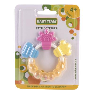 Погремушка-прорезыватель Baby Team Цветочек 8410 ТМ: BABY TEAM