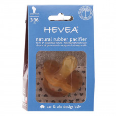 Пустышка каучуковая Hevea Car анатомическая 3-36 мес HEVCAR ТМ: HEVEA
