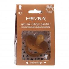 Пустышка каучуковая Hevea Crown круглая 0-3 мес  HEVCROWN0-3 ТМ: HEVEA