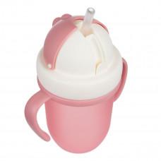 Поильник с силиконовой трубочкой Canpol babies Matte Pastels Pink 210 мл 56/522_pin ТМ: Canpol babies
