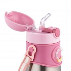 Термобидончик Canpol babies с трубочкой розовый 300 мл  74/054_pin ТМ: Canpol babies