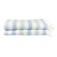 Полотенце махровое Hobby Stripe Peshtemal, 140х70 см, голубой (315679)