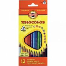 Набор цветных карандашей Koh-i-Noor Triocolor, 12 шт. (3132)