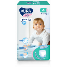 Подгузники-трусики Aura Baby 4/L (9-14 кг), 14 шт.