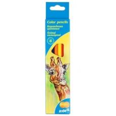 Набор цветных карандашей Kite Животные, 6 шт. (K15-050)